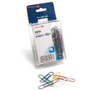 PVC Free Color Coated Clips and Fasteners / Paper Clips, 75 Giant / Reusable Plastic Box