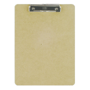Wood Clipboard, Letter Size, Low profile clip