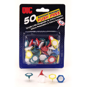 Hexagon Shape Push Pin, Write-on Label