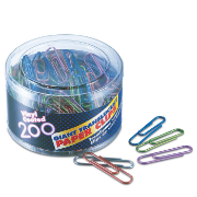 Translucent Vinyl Coated Clips and Fasteners / Paper Clips, Giant