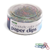 PVC Free Metallic Color Coated Clips, 600 #2