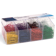 PVC Free Color Coated Clips, 800 #2 / Reusable Plastic Organizer with 8 compartments
