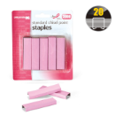 Breast Cancer Awareness Standard Staples, 105 Per Strip, 2000/PK, Pink