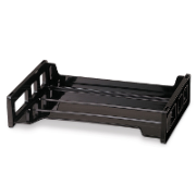 Side Load Letter Tray, Black