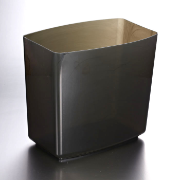 2200 Series Waste Basket, 20 Quart, Smoke