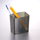 2200 Series Pencil Cup, 2 Compartment, Smoke