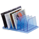 Blue Glacier Medium Vertical Sorter, 7 Compartments, Transparent Blue