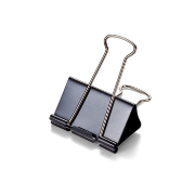 "Binder Clips, Large, 2"" Wide, Carded, Black"