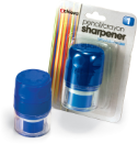 Twin Pencil/Crayon Sharpener with Retractable Eraser