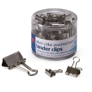 Silver / Binder Clips, Assorted Sizes
