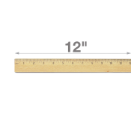 "12"" Double Metal Edge Wood Ruler"