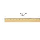 "15"" Double Metal Edge Wood Ruler"