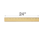 "24"" Double Metal Edge Ruler Wood Ruler"
