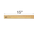 "15"" Single Metal Edge Wood Ruler"