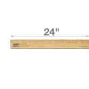 "24"" Single Metal Edge Wood Ruler"