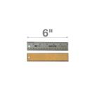 "6"" Stainless Steel Metal Ruler"