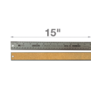 "15"" Stainless Steel Metal Ruler"