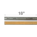 "18"" Stainless Steel Metal Ruler"