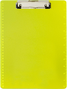 Transparent Plastic Clipboard, Neon Yellow