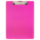 Transparent Plastic Clipboard, Neon Pink