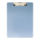 Transparent Acrylic Clipboard w/ruler markings, Transparent Blue