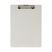 Recycled Plastic Clipboard, Pearl
