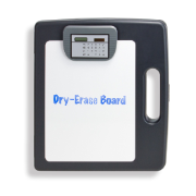 Protable Dry-Erase Clipboard Box with Calculator