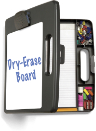 Portable Dry-Erase Clipboard Box