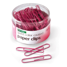 Breast Cancer Awareness PVC Free Color Coated Clips, Giant, 80/Tub, Pink