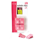Breast Cancer Awareness Cubicle Clips 4/PK, Pink