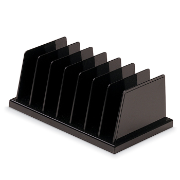 Medium Vertical Sorter, 7 Compartments, Black