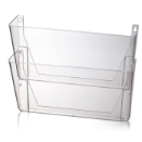Wall File, Letter Size, 2/PK, Clear