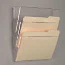 Wall File, Letter Size, 3/PK, Clear
