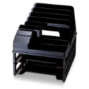 Front Load Sorter/ Organizer with 2 Letter Trays, Black