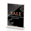 "Premium Upright Vertical Sign/Photo Holder, 8 1/2""W x 11""H, Clear"
