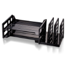 Recycled Combination Side Sorter with 2 Letter Trays, Black