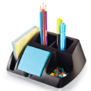 Achieva Desk Organizer, Recycled, Black