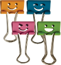 Officemate Happy Smiling Face Binder Clips