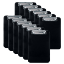 Memo Size Clipboard, Black, Pack of 12