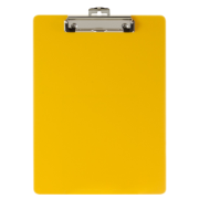 Recycled Plastic Clipboard, Yellow