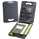 Deluxe Tablet Clipboard Case, Charcoal