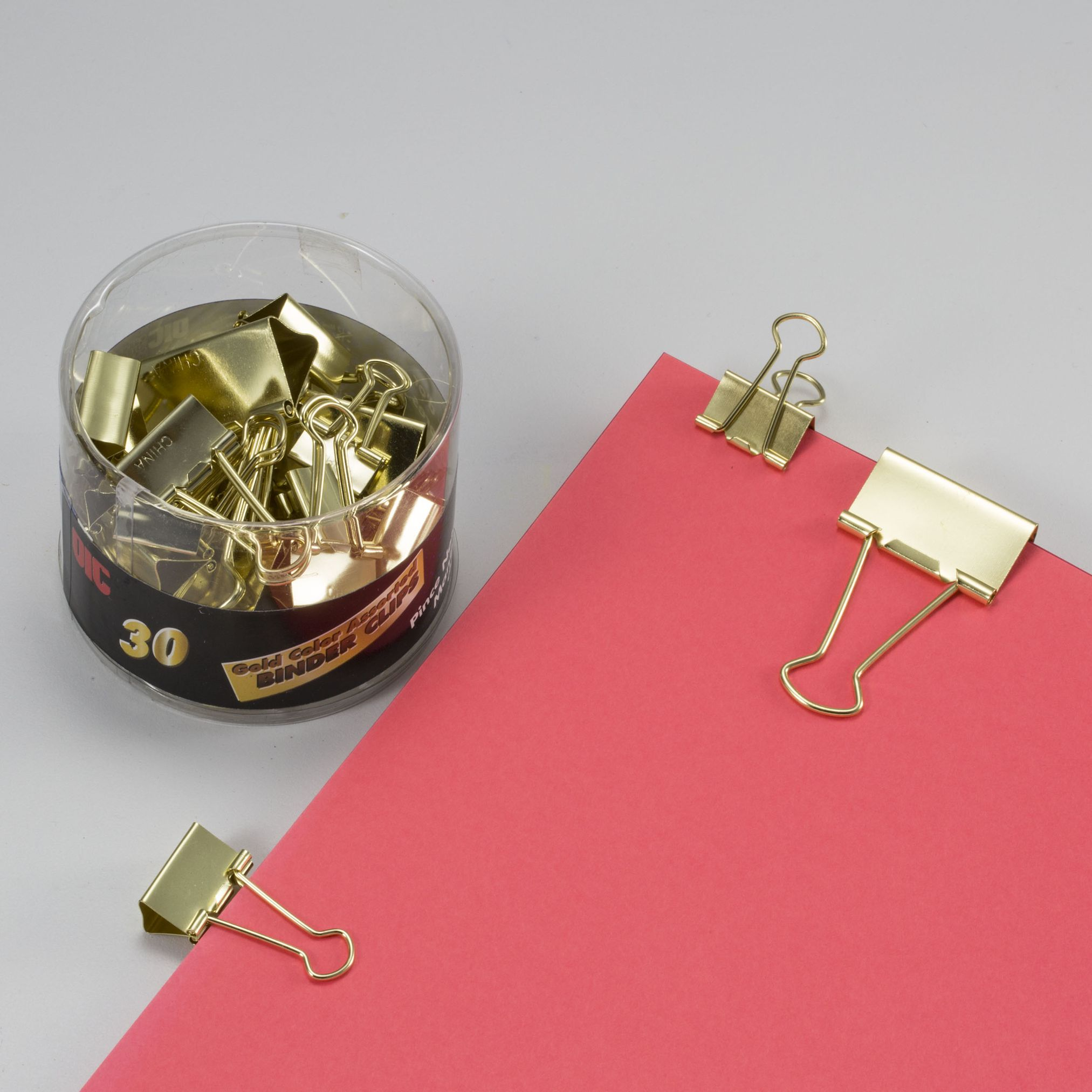 Gold / Binder Clips, Assorted Sizes