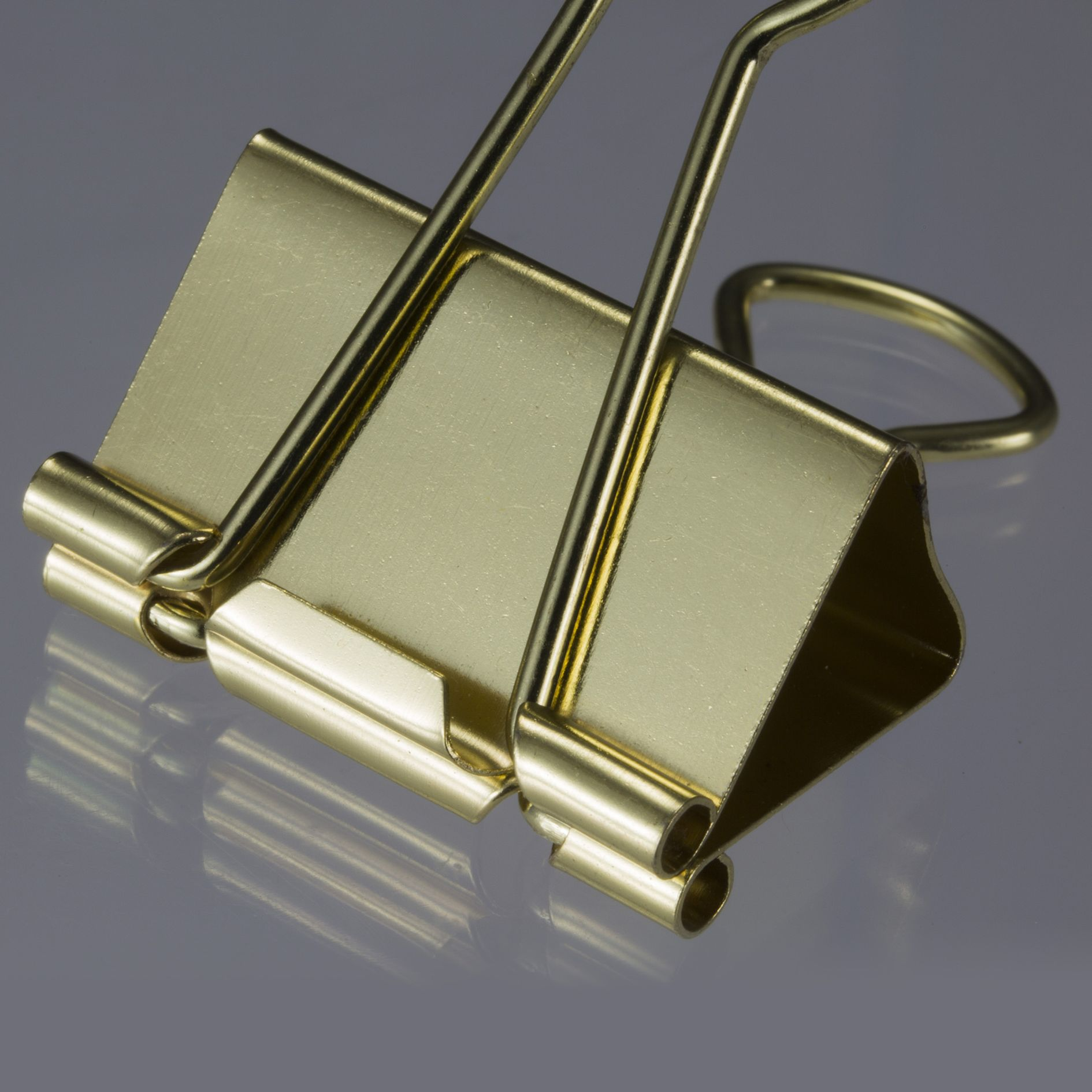 Gold Binder Clips Assorted Sizes