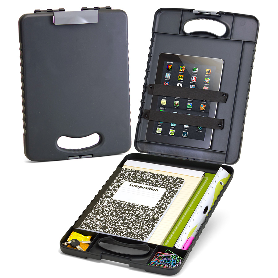 Deluxe Tablet Clipboard Case Charcoal