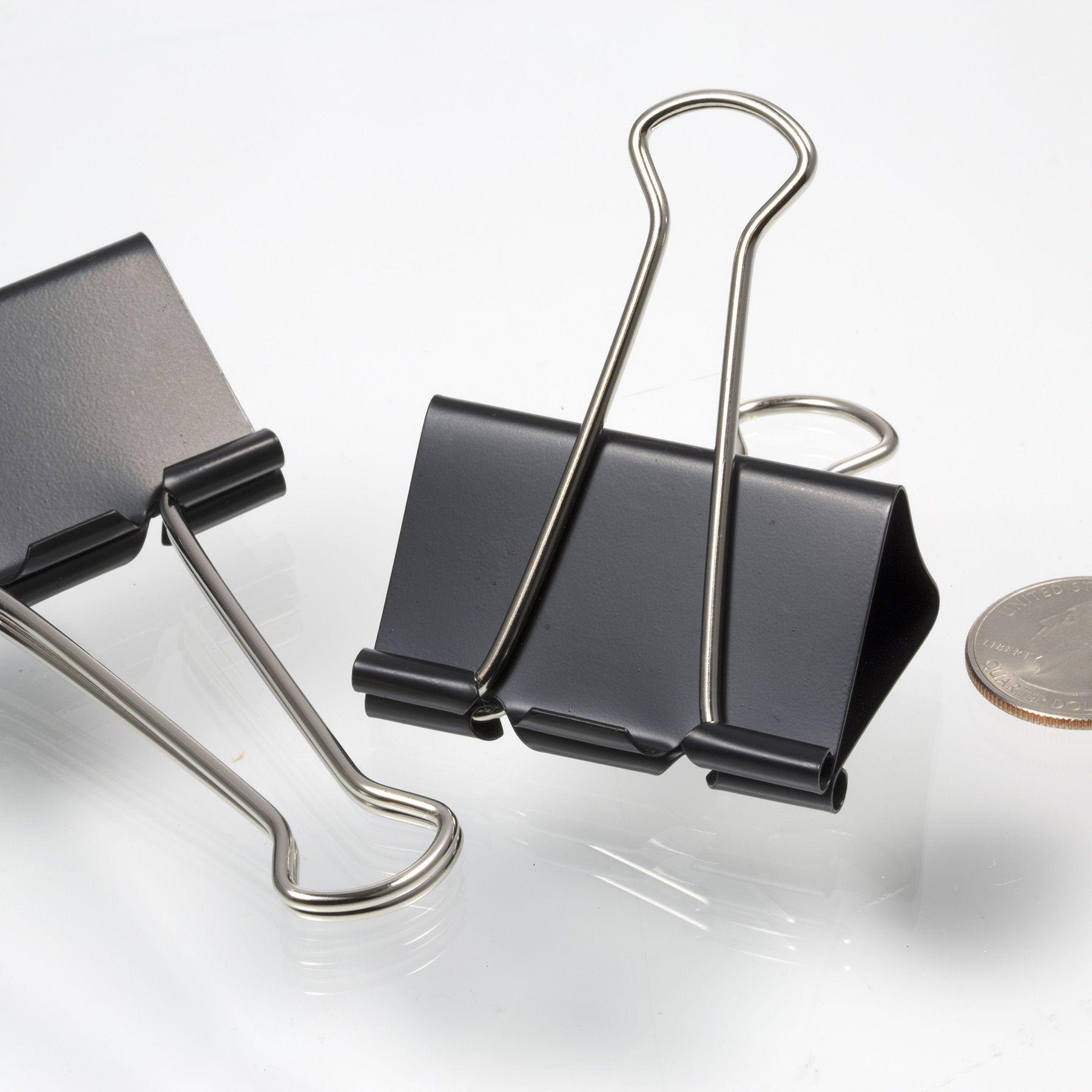 Large / Binder Clips, Black